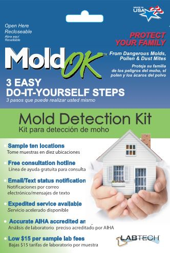 Mold OK detection kit retail package